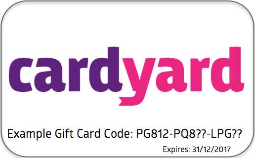 Cardyard gift card